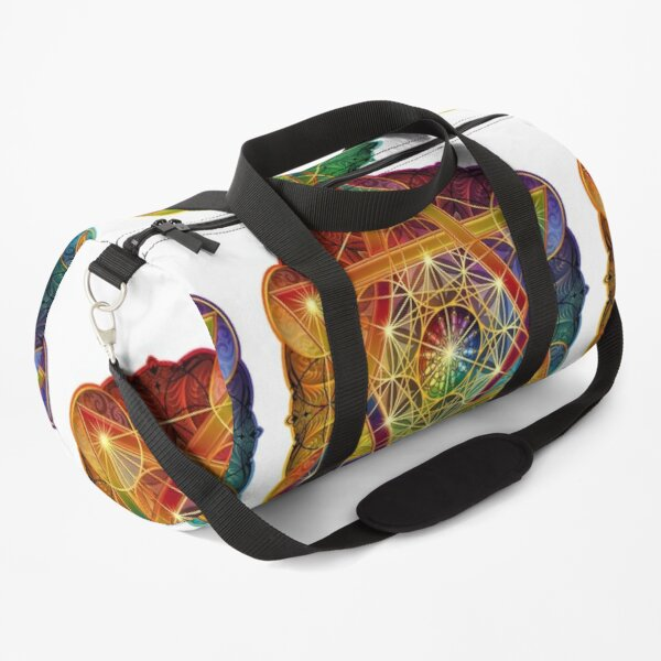 Metatron's Cube with Merkabah and Flower of Life Duffle Bag