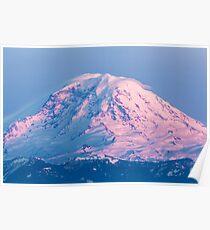 Sunset Reflections on Mount Rainier Poster