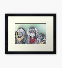 Wise guys!!! Framed Print