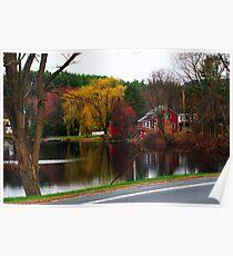 OverCast Day Along the River Poster