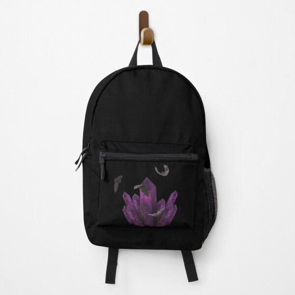 Gothic crystals, bats, somber Backpack