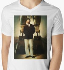 Portrait of Robert House Mens V-Neck T-Shirt