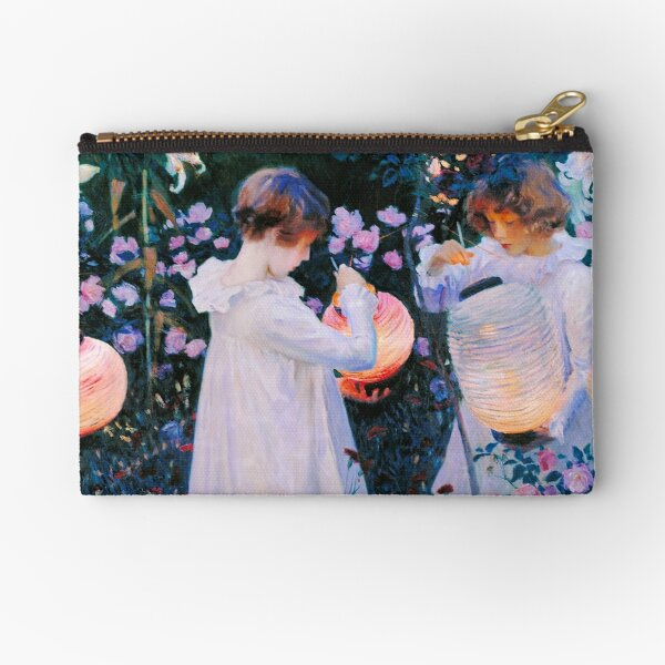 John Singer Sargent - Carnation, Lily, Lily, Rose Zipper Pouch