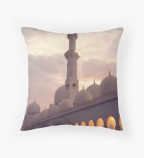 Zayed Grand Mosque West Wing Throw Pillow