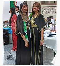 Algerian Traditional Fashion Poster