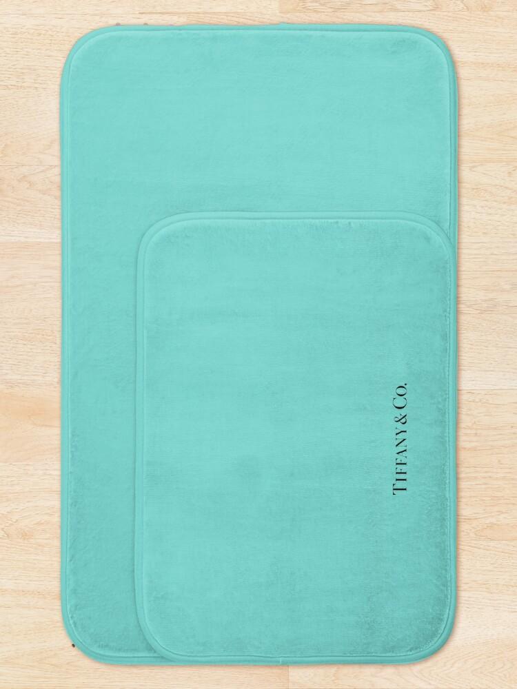 Alternate view of Tiffany Blue w/ Logo  Bath Mat