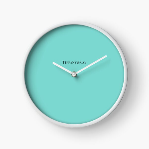 Tiffany Blue w/ Logo  Clock
