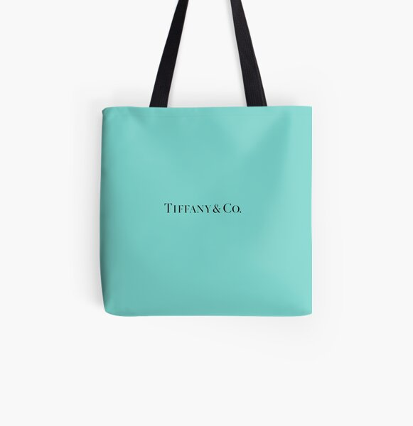 Tiffany Blue w/ Logo  All Over Print Tote Bag