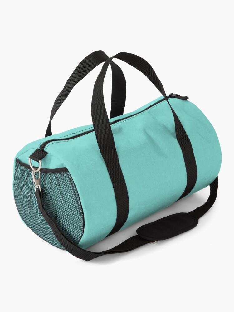Alternate view of Tiffany Blue w/ Logo  Duffle Bag