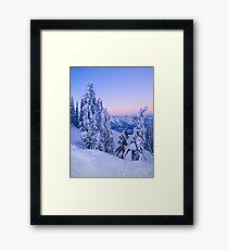 Evening Snowscape Framed Print