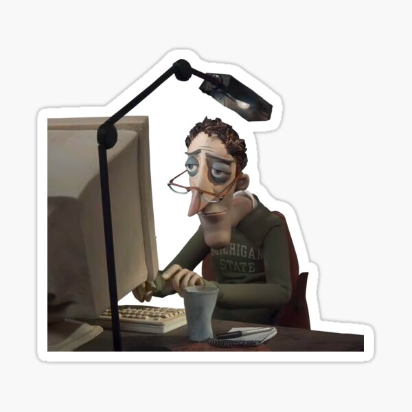 Coraline S Dad Meme Hd Sticker By Goath Redbubble