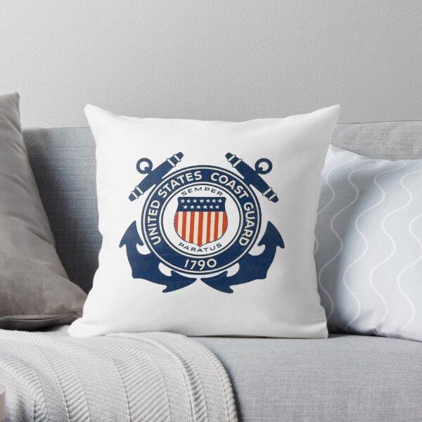 United States Coastguard - Emblem Throw Pillow