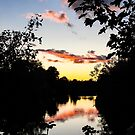 River Sunset Berkshire England by mlphoto