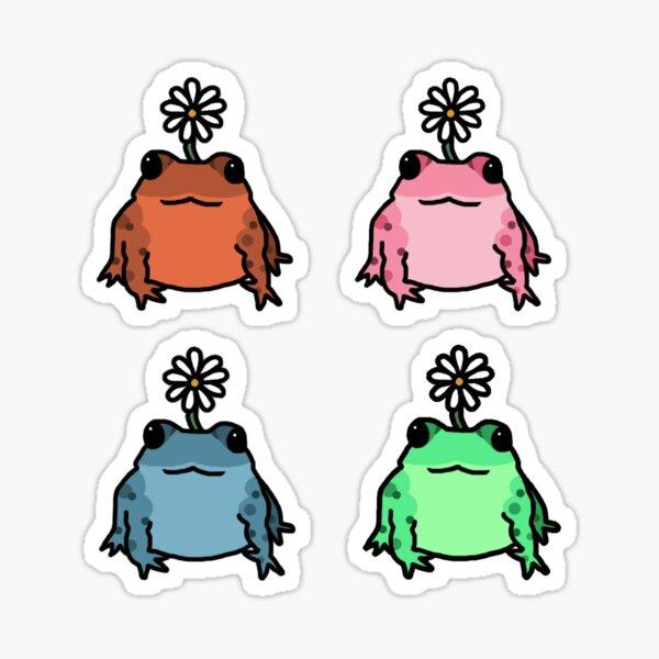 Daisy Frog Sticker Pack Sticker