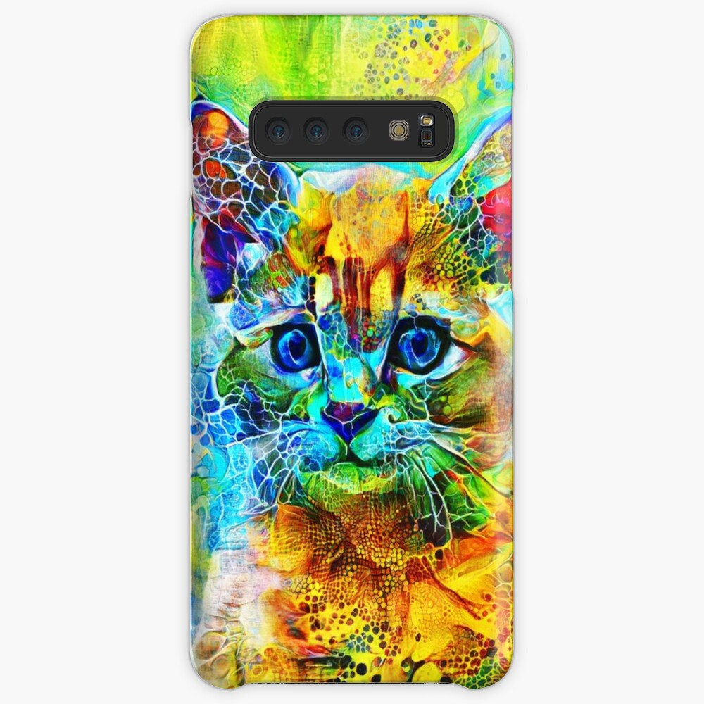 Abstractions of abstract abstraction of cat Case & Skin for Samsung Galaxy