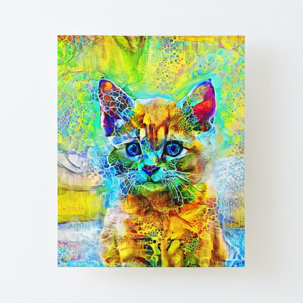 Abstractions of abstract abstraction of cat Canvas Mounted Print