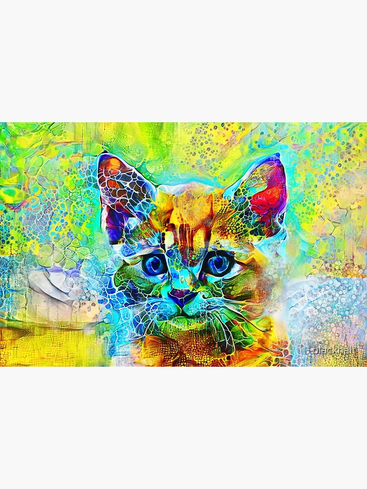 Abstractions of abstract abstraction of cat by blackhalt