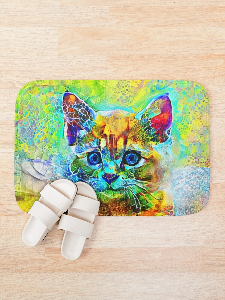 Alternate view of Abstractions of abstract abstraction of cat Bath Mat