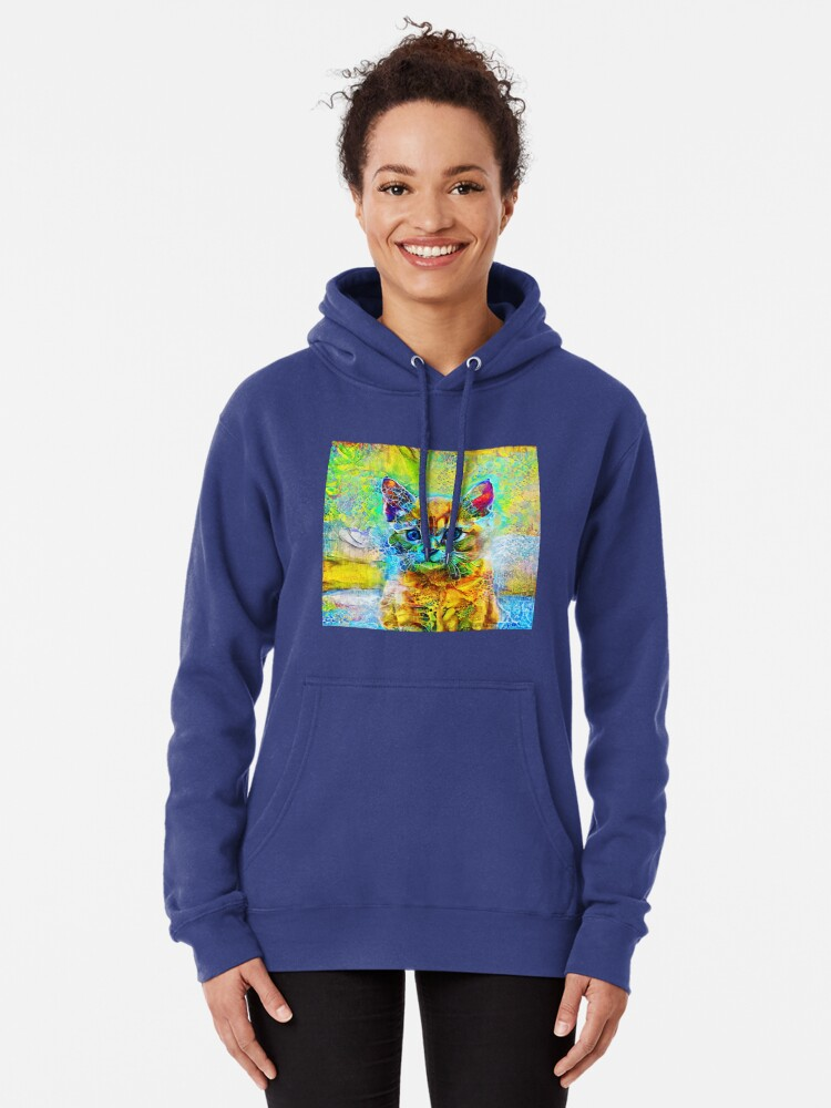 Alternate view of Abstractions of abstract abstraction of cat Pullover Hoodie