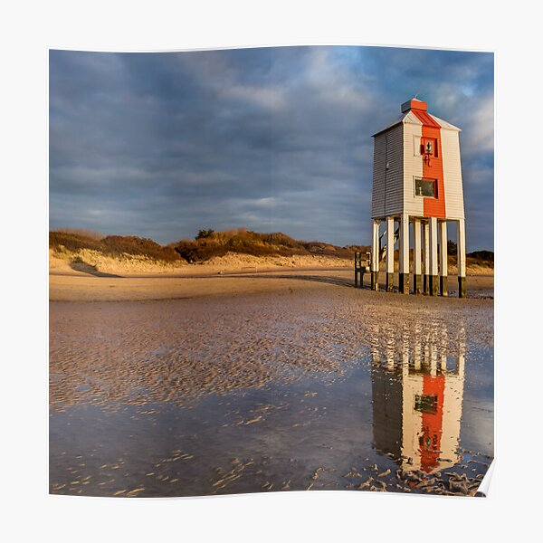 Burnham on Sea Low Lighthouse, Reflections Poster