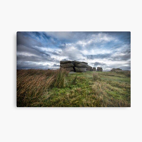 Combestone Tor Dartmoor Metal Print