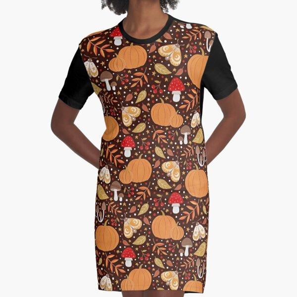 Autumn elements Graphic T-Shirt Dress