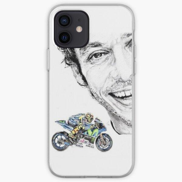 Valentino Rossi dibujo Funda blanda para iPhone