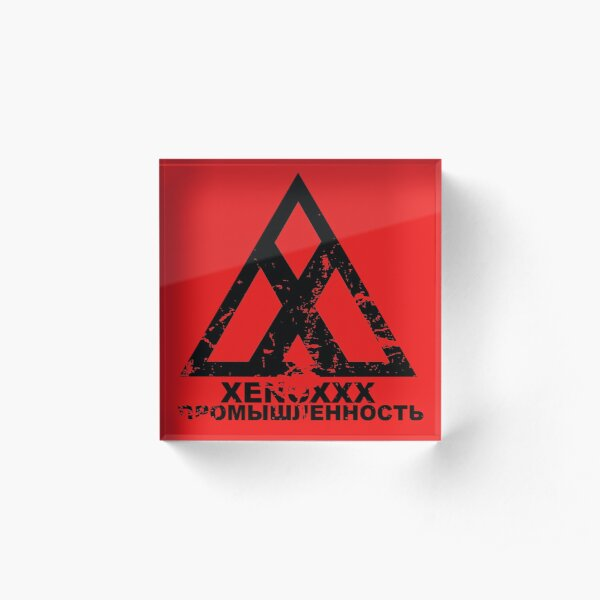 Xenoxxx Distressed Acrylic Block