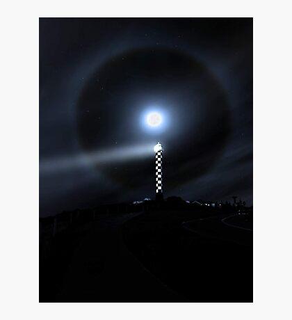 Moon Halo Over Bunbury lighthouse  Photographic Print