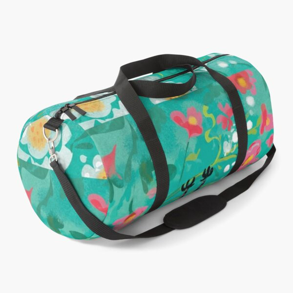 Batty for Flowers Duffle Bag