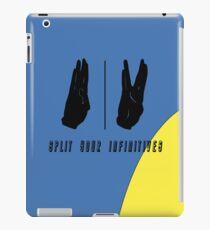 Split your infinitives iPad Case/Skin
