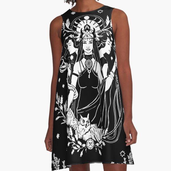 Hekate Triple Goddess A-Line Dress
