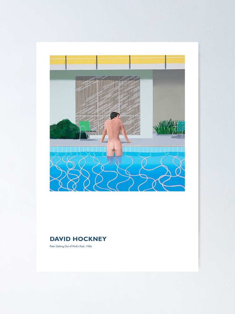 Alternate view of David Hockney Exhibition Art Poster - Peter Getting Out of Nick's Pool, 1966 Poster