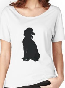 Poodle Silhouette Women's Relaxed Fit T-Shirt