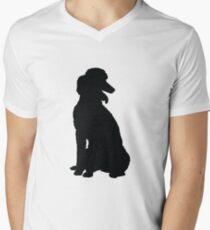 Poodle Silhouette Men's V-Neck T-Shirt