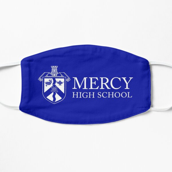 Mercy Shield Logo with Text on Blue Mask