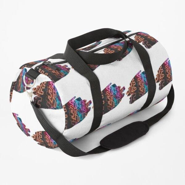 Neon light Design Tee T-Shirt Duffle Bag