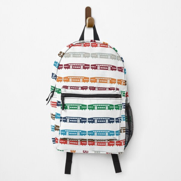Toronto Stripes of Trains Backpack