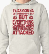 Blame the Fire Nation- red  Pullover Hoodie