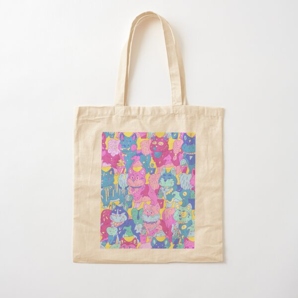 Dogs pattern Cotton Tote Bag