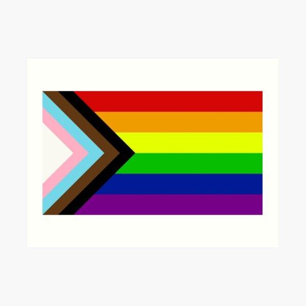 Pride Progress Flag Art Print