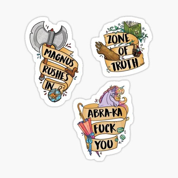 Tres Horny Boys Sticker