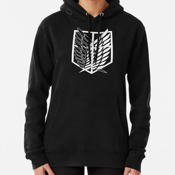 Attack On Titan - Survey Corps Emblem Pullover Hoodie