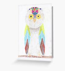 Bemused Jeweled Owl Greeting Card
