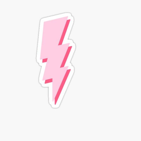 pink layered lightning bolt Sticker
