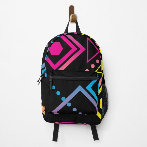 Gradient Cross Geometric Graphic Backpack