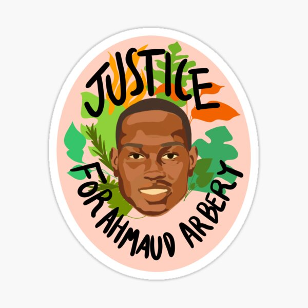 Justice for Ahmaud Arbery Sticker