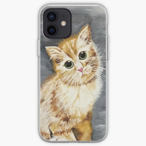 Oil painting of a cute kitty iPhone Soft Case