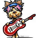 Yorkie Rock Star by offleashart