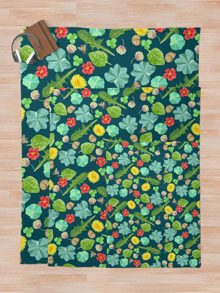 Alternate view of Summer Meadow Pattern Throw Blanket